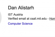 Visit of prof. Dan Alistarh