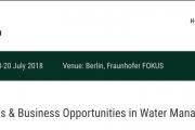 SciBOWater2019: Scientific Challenges & Business Opportunities in Water Management